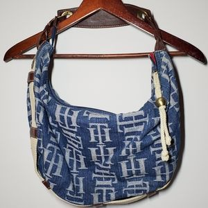 TOMMY HILFIGER Denim Hobo Shoulder Bag
